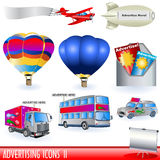Advertising icons 2. Set of different advertising color icons - part two royalty free illustration