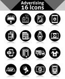 Advertising Icons Black Royalty Free Stock Image