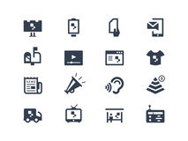 Advertising icons. Isolated on white Royalty Free Stock Images