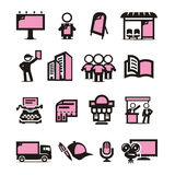 Advertising icons set. Authors illustration in Vector Illustration