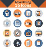 Advertising Icons Set Royalty Free Stock Images