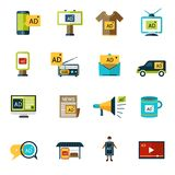 Advertising Icons Set Stock Images