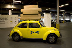 Advertising for Ikea Seattle. A car with Ikea logo with packages on top was to promote do it yourself concept. Ikea Seattle Stock Image