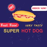 Advertising Illustration with hot dog Stock Photos