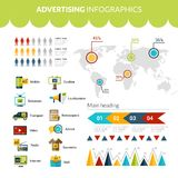 Advertising Infographics Set Royalty Free Stock Images