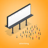 Advertising Isometric Concept Royalty Free Stock Photo