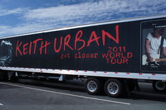 Advertising Keith Urban 2011 World Tour. Truck with advertising for Keith Urban get closer 2011 World Tour Stock Image