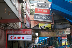 Advertising, Kolkata, India. Advertising along the street in Kolkata, india Stock Image