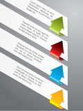 Advertising label set with color arrows Royalty Free Stock Image