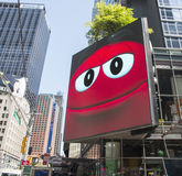 Advertising M&M'S World Store In NY Stock Photo