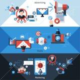 Advertising Marketing Banners Stock Photos