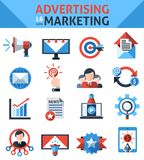 Advertising Marketing Icons Stock Images