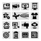 Advertising and marketing icons set stock illustration