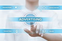 Advertising Marketing Plan Branding Business Technology concept.  royalty free stock photo
