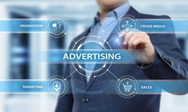 Advertising Marketing Plan Branding Business Technology concept.  royalty free stock photography