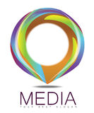 Advertising Media Circle Logo Concept Stock Image