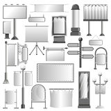 Advertising media constructions and spaces vector icons set Stock Image