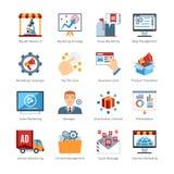 Advertising Media Flat Design Icons Stock Photo