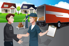 Advertising for moving company Stock Photos