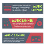 Advertising musical banners Stock Photos