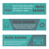 Advertising musical banners Royalty Free Stock Photo