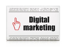 Advertising news concept: newspaper with Digital Marketing and M Royalty Free Stock Image