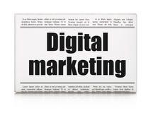 Advertising news concept: newspaper headline Digital Marketing Stock Images