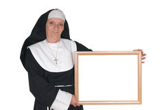Advertising nun, sister Stock Image