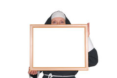 Advertising nun, sister Royalty Free Stock Image