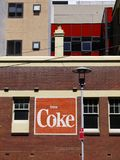 Advertising: old Coke sign royalty free stock photography