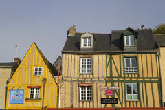 Advertising on old houses of Le Mans Stock Photography