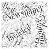 Advertising Options word cloud concept background. Text Stock Illustration