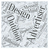 Advertising Outdoors word cloud concept  background. Text Vector Illustration