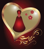 Advertising perfume Royalty Free Stock Image