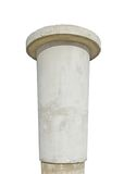 Advertising pillar weathered aged grey concrete Royalty Free Stock Image