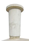 Advertising pillar, weathered aged grunge bright grey concrete Royalty Free Stock Images