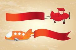 Advertising planes Stock Photo