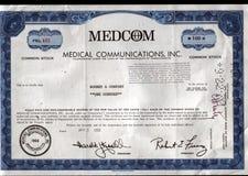 Original stock certificate Royalty Free Stock Photos
