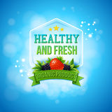 Advertising poster for fresh farm products Stock Photo