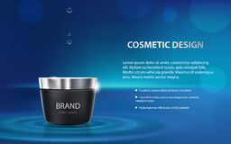 Advertising poster of a moisturizing cosmetic product Stock Images