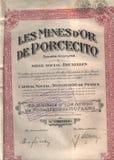Antique stock certificate Stock Photo