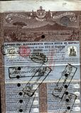Original stock certificate Royalty Free Stock Image