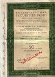 Original stock certificate Stock Image