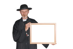 Advertising priest, father Stock Photography
