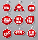 Advertising and promotion badges Stock Images