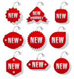 Advertising and promotion stickers Stock Photo