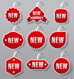 Advertising and promotion tags Stock Images
