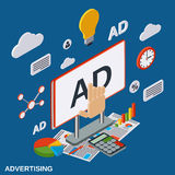 Advertising, promotion vector concept Stock Photo