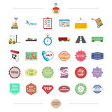 Advertising, river, travel and other web icon in cartoon style. Royalty Free Stock Image