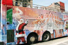 Advertising the Rockettes. Advertising the rockettes on a bus for the annual radio city Christmas spectacular Royalty Free Stock Images